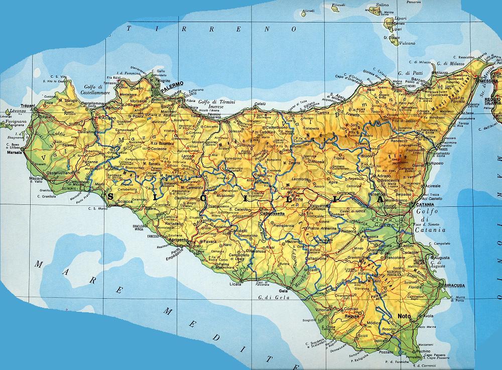 Cartina Fisica Sicilia Dettagliata.L Economia Reale Della Sicilia Negli Ultimi 20 Anni