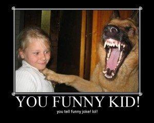 laughing german