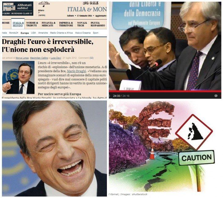 Ecco la prova che Draghi mente sull'irreversibilità dell'euro! (di Antonio Maria Rinaldi)