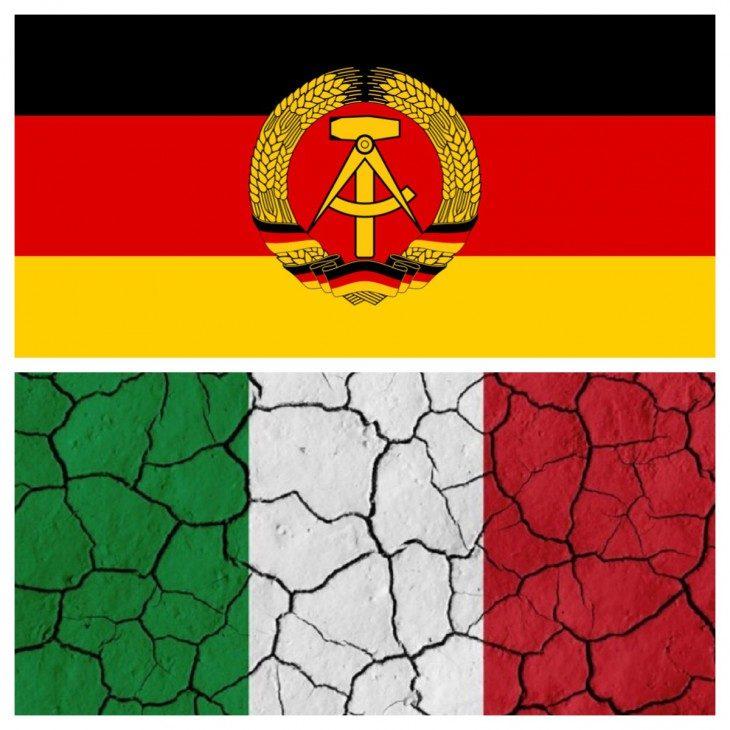 I TRATTATI PREVEDONO AIUTI ALL'EX GERMANIA EST MA NON AL MEZZOGIORNO!