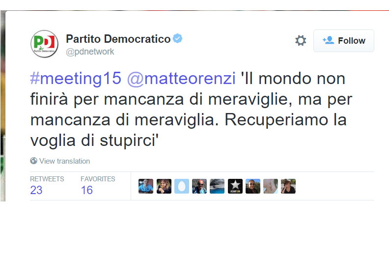 supercazzola agosto Renzi