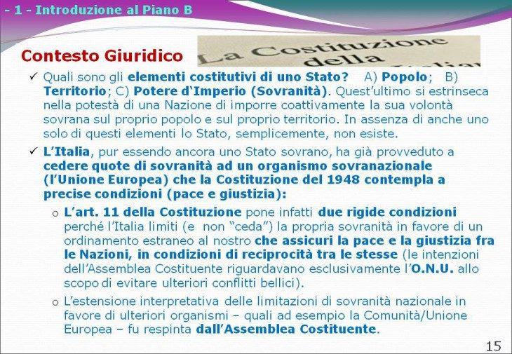 LE SLIDE GIURIDICHE DEL PIANO B DI SCENARIECONOMICI.IT PER L'USCITA DELL'ITALIA DALL'€URO (di Giuseppe PALMA, Marco MORI e Luigi PECCHIOLI)