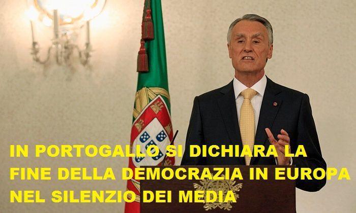 NELL'ASSORDANTE SILENZIO DEI MEDIA ITALIANI SI E' CONSUMATA LA FINE DELLA DEMOCRAZIA IN EUROPA.