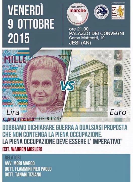 Lira VS Euro : Convegno con Marco Mori