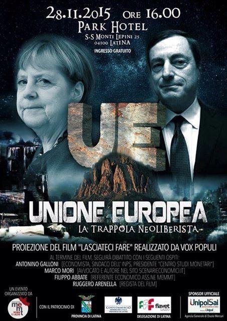 """Latina 28.11.15: """"L'unione europea – la trappola neoliberista"""""""