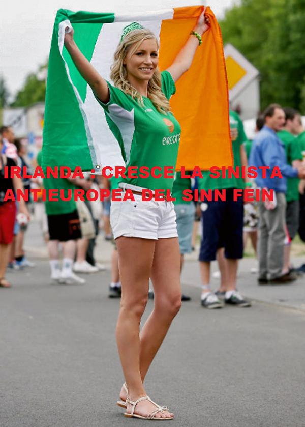 IRLANDA:  I SONDAGGI PUNISCONO I CENTRISTI EUROPEISTI.