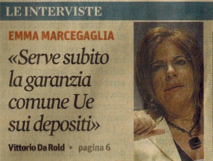 La verità che i giornali nascondono (encore): oggi NON c'è tutela dei risparmiatori nemmeno per i depositi sotto i 100mila euro. La Germania vuole metterci spalle al muro