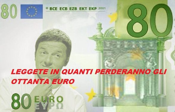 Avevo ragione questo scrissi a Gennaio : Il Carbone di Renzi ai lavoratori italiani.  Addio 80 euro . LEGGETE!