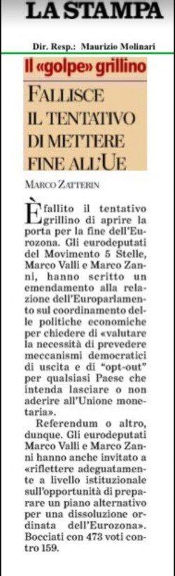 LA STAMPA DI TORINO RIDICOLIZZANDO I GRILLINI DIMOSTRA DI NON AVER CAPITO NULLA! (di A.M.Rinaldi)