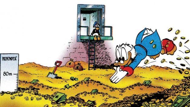 IL QE Europeo fallirà alla stragrande, una piccola notizia dello Spiegel ce lo mostra chiaramente. Avremo i depositi di Zio Paperone ….
