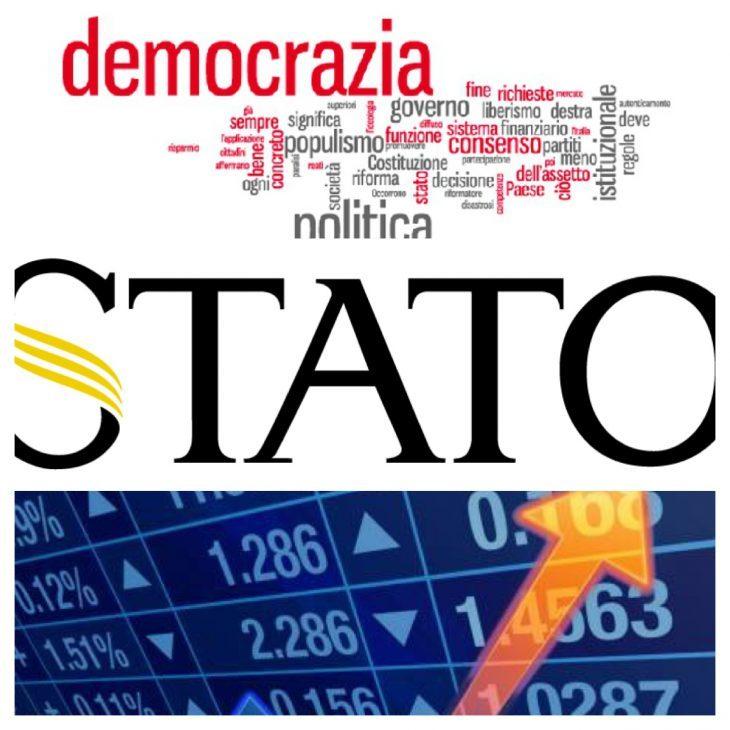 E' SALTATO L'EQUILIBRIO FRA DEMOCRAZIA, STATO E MERCATO PERCIO' SIAMO DESTINATI PRESTO A SOCCOMBERE (di A.M. Rinaldi)