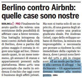 """Il cripto-nazismo che non ti aspetti: l'assessore all'urbanistica di Berlino attacca Airbnb per l'aumento dei prezzi degli immobili affermando """"Gli appartamenti devono tornare alla nostra gente"""""""