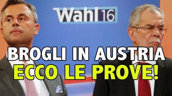 BROGLI ELETTORALI IN AUSTRIA! La tirannia dell'UE è arrivata a mettere le mani anche nelle urne (di Giuseppe PALMA)