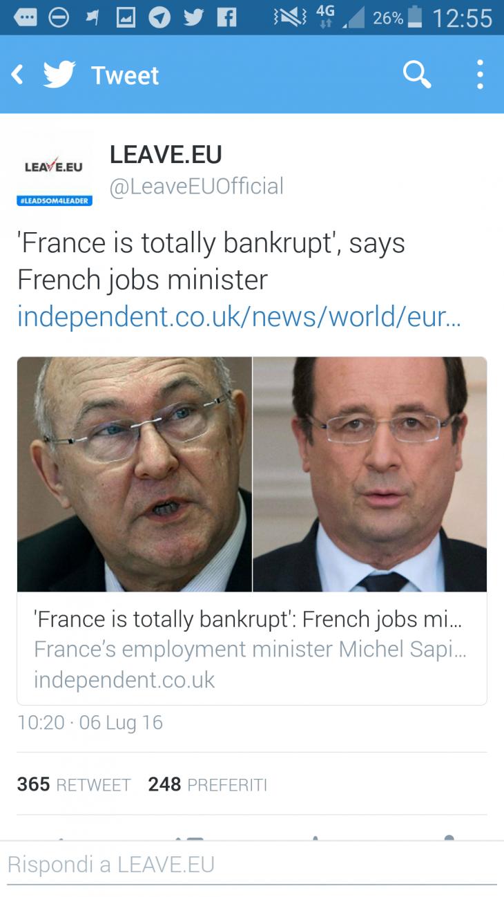LA FRANCIA È IN BANCAROTTA