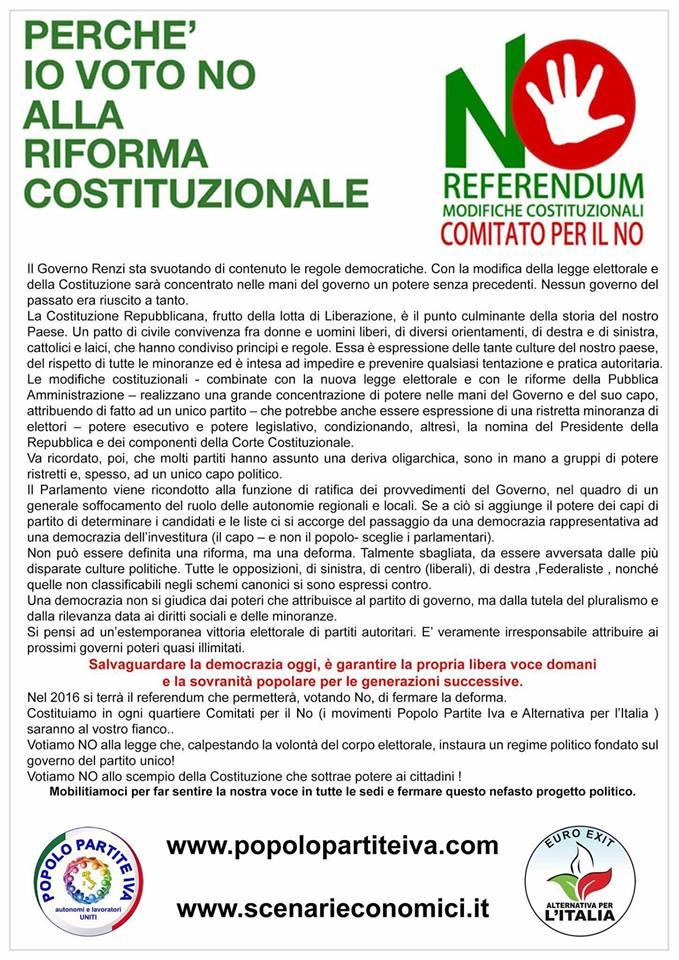 IL POPOLO DELLE PARTITE IVA VOTERA'NO ALLA RIFORMA  COSTITUZIONALE