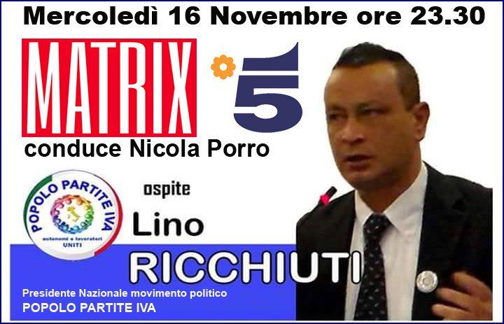 Lino Ricchiuti (P.P.I.) ospite a Matrix