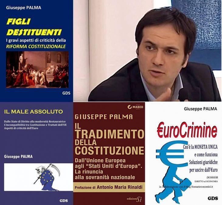 4 libri salva-democrazia e salva-Costituzione contro la dittatura dell'UE e dell'euro, dell'avvocato Giuseppe PALMA