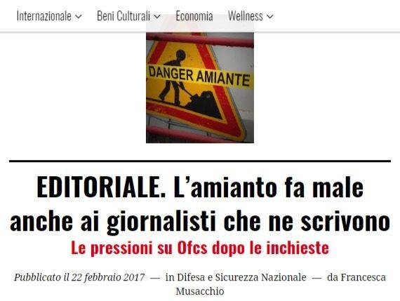In tempi di fake news esistono ancora fonti giornalistiche serie in Italia, fino a dar fastidio: il caso amianto di ofcs.report