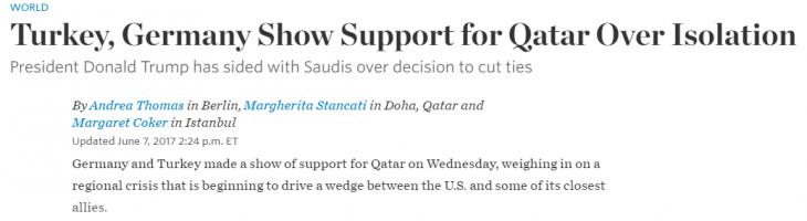 Breaking: il vice Cancelliere tedesco Gabriel si schiera con Doha e muove le truppe dalla Turchia verso sud, accanto alla Siria