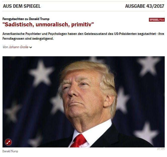 """Spiegel attacca Trump a livello personale: """"Sadico, Immorale, Primitivo"""". Ma dove è la censura per gli insulti sul web? Forse non vale per la Germania…"""