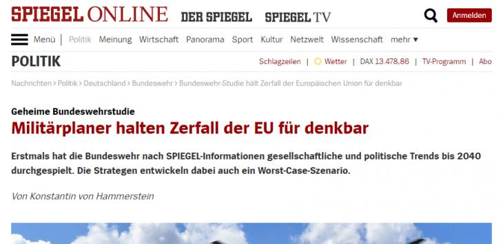 LA GERMANIA SI PREPARA ANCHE MILITARMENTE ALL'EUROBREAK, E L'ITALIA INVECE COSA FA ?