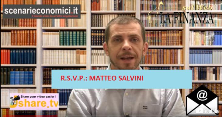 RSVP: DOMANDE A MATTEO SALVINI DAL TAVOLO TECNICO ELETTORALE