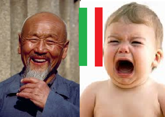 IN CINA BOOM DEI CREDITI, IN ITALIA SBOOM DELLE VENDITE….
