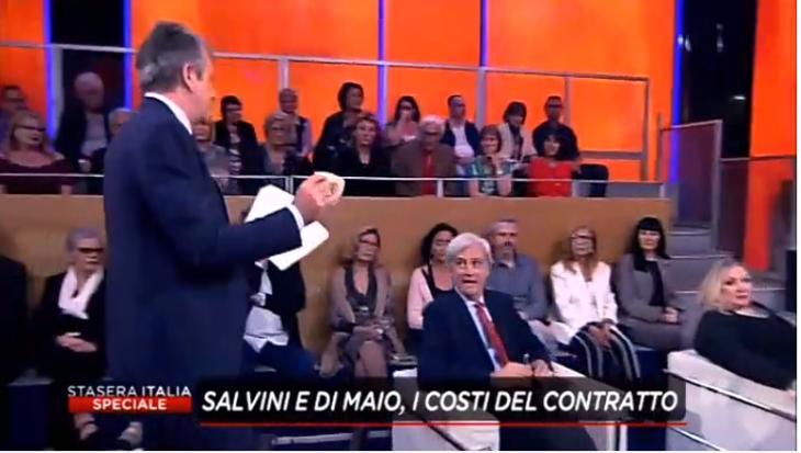 ANTONIO MARIA RINALDI A RETE4. MINIBOT , FORNERO E IMMIGRAZIONE.