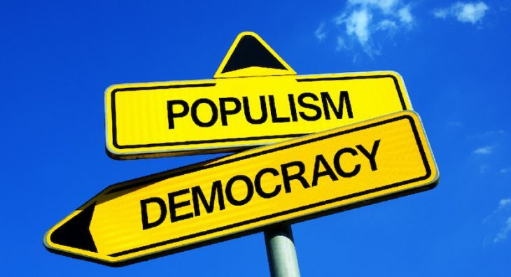 """A Stasera Italia Rete4: """"l'antitesi ovvero il contrario di populismo"""""""