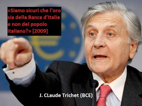 Il prof. Deaglio, dopo i disastri fatti da sua moglie Elsa Fornero, propone la resa dell'Italia: dare in pegno l'oro italiano! Se non è nozionismo questo….