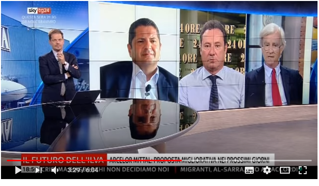 Paolo Savona, Ilva ed Alitalia: Rinaldi a Sky TG24 Economia