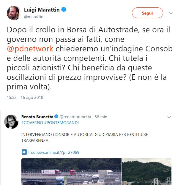 ForzaPD colpisce ancora: unità di pensiero Brunetta-Marattin