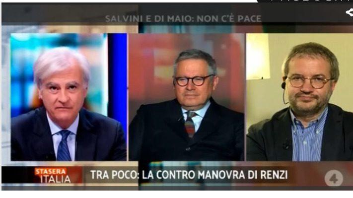 Borghi e Rinaldi a Stasera Italia: Pace Fiscale Europa e BCE