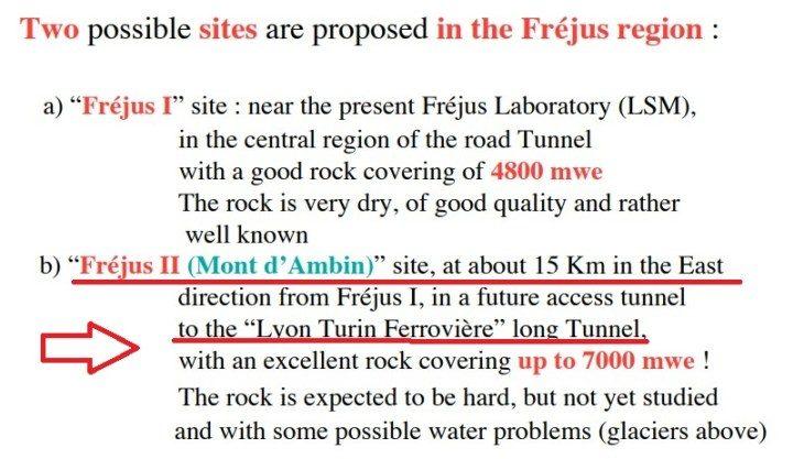 Gli italiani devono sapere se sotto il Frejus, a latere del progetto TAV, è stato costruito un laboratorio nucleare francese, magari in territorio italiano!