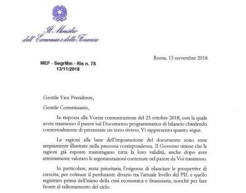 La risposta del governo italiano a Bruxelles: confermato tutto, ma aggiunto piano di dismissione immobiliare. La risposta sarà demenziale