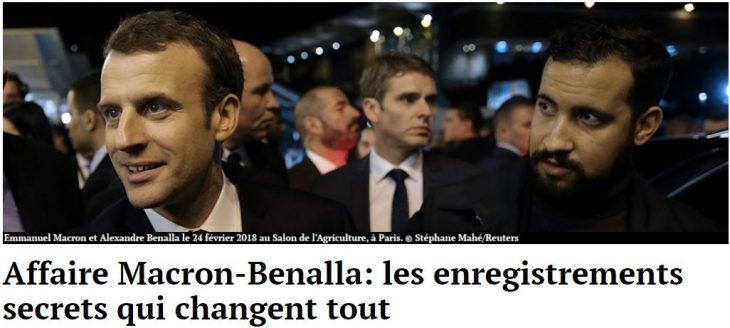 """MACRON –  BENALLA' NUOVE RIVELAZIONI: """"LUI FA IL PAZZO PER ME"""".."""