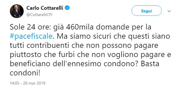 Spieghiamo a Cottarelli il perchè della pace fiscale