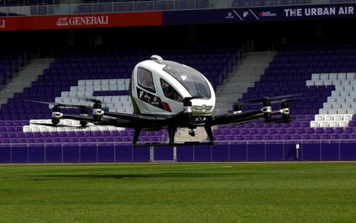 Ecco il Taxi drone del futuro, testato a Vienna