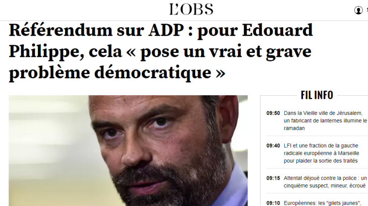 FRANCIA: IL CASO ADP. QUANDO UN REFERENDUM E' UNA MINACCIA ALLA DEMOCRAZIA