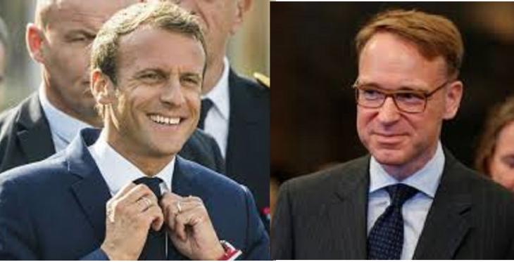 Macron prende in giro Weidmann, quando lui spera di diventare presidente della BCE
