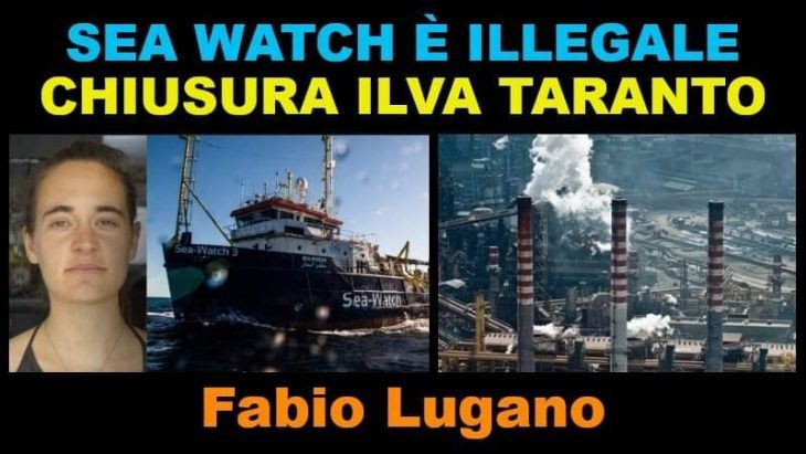 SEA WATCH E ILVA: INTERVISTA DI ITALIA NEWS A FABIO LUGANO