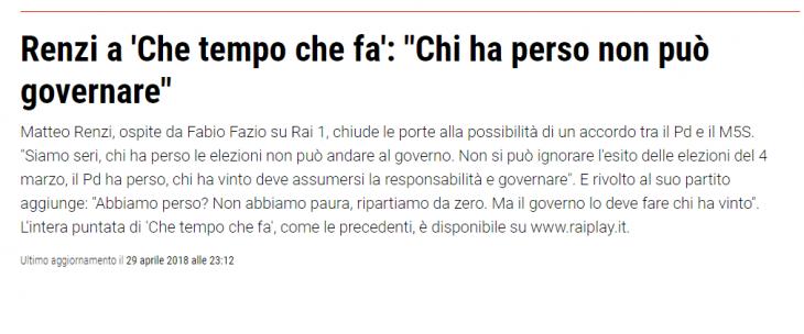 LE IDEE CHIARE DEL DOMINUS DEL FUTURO GOVERNO PD, IL SENATORE MATTEO RENZI. ET
