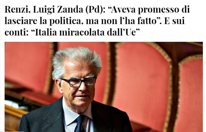 GALLI E POLLAI:  a distanza di tre anni Zanda (PD ) si è accordo che Renzi non ha dato le dimissioni.. Che tempismo (PS di economia capite una fava)
