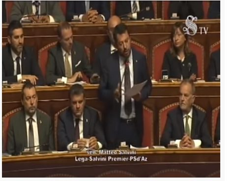 L'INTERVENTO DI SALVINI AL SENATO (VIDEO)