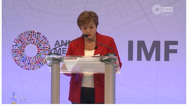 KRISTALINA GEORGEVA (FMI): rallentamento mondiale, ci siamo giocati la Svizzera. (Occhio ai carburanti)