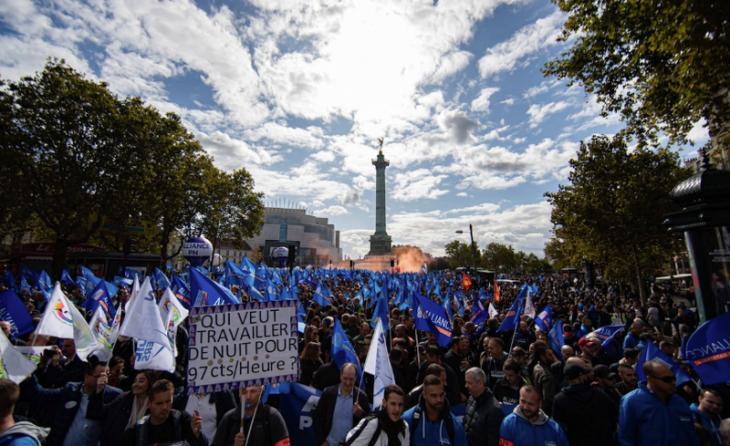 LA POLIZIA FRANCESE ALLA DISPERAZIONE