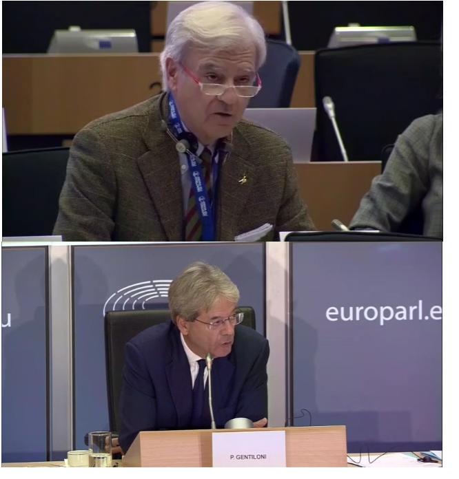 RINALDI VS GENTILONI: audizione del candidato commissario in Commissione ECON del Parlamento Europeo (video).