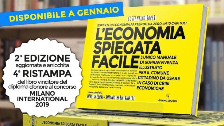 Il libro di economia spiegata facile premiato con il Diploma d'onore al Premio Letterario Milano International