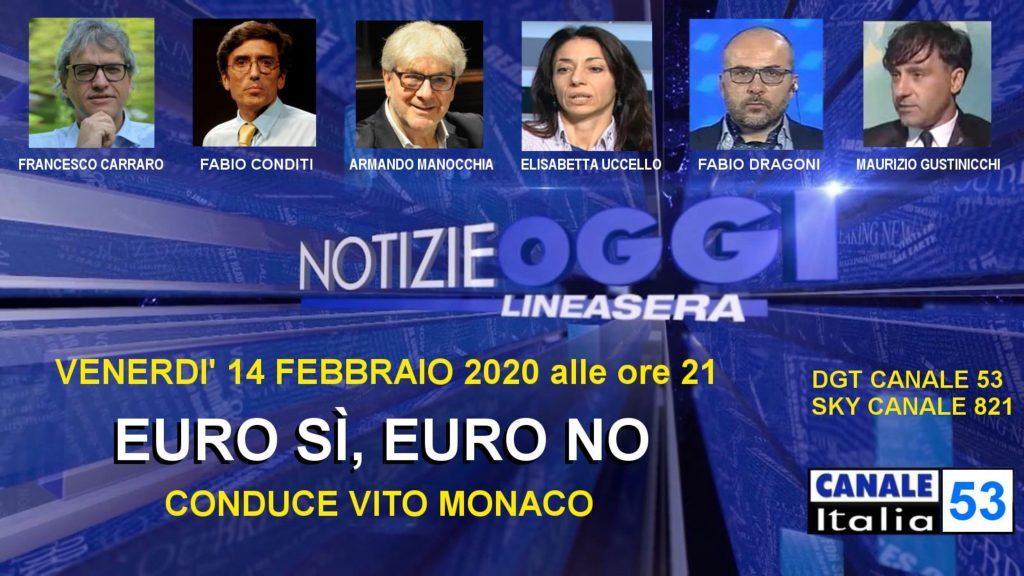 Canale Italia 53 Notizie Oggi Linea Sera 14 febbraio 2020