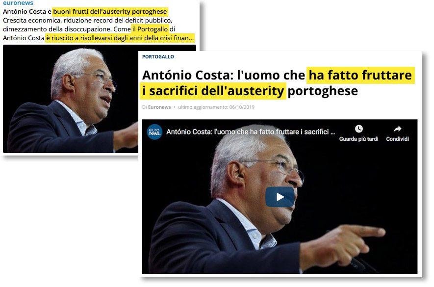 la buona austerity del Portogallo